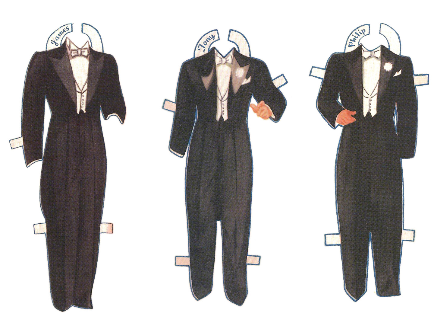 writers inner voices paper dolls